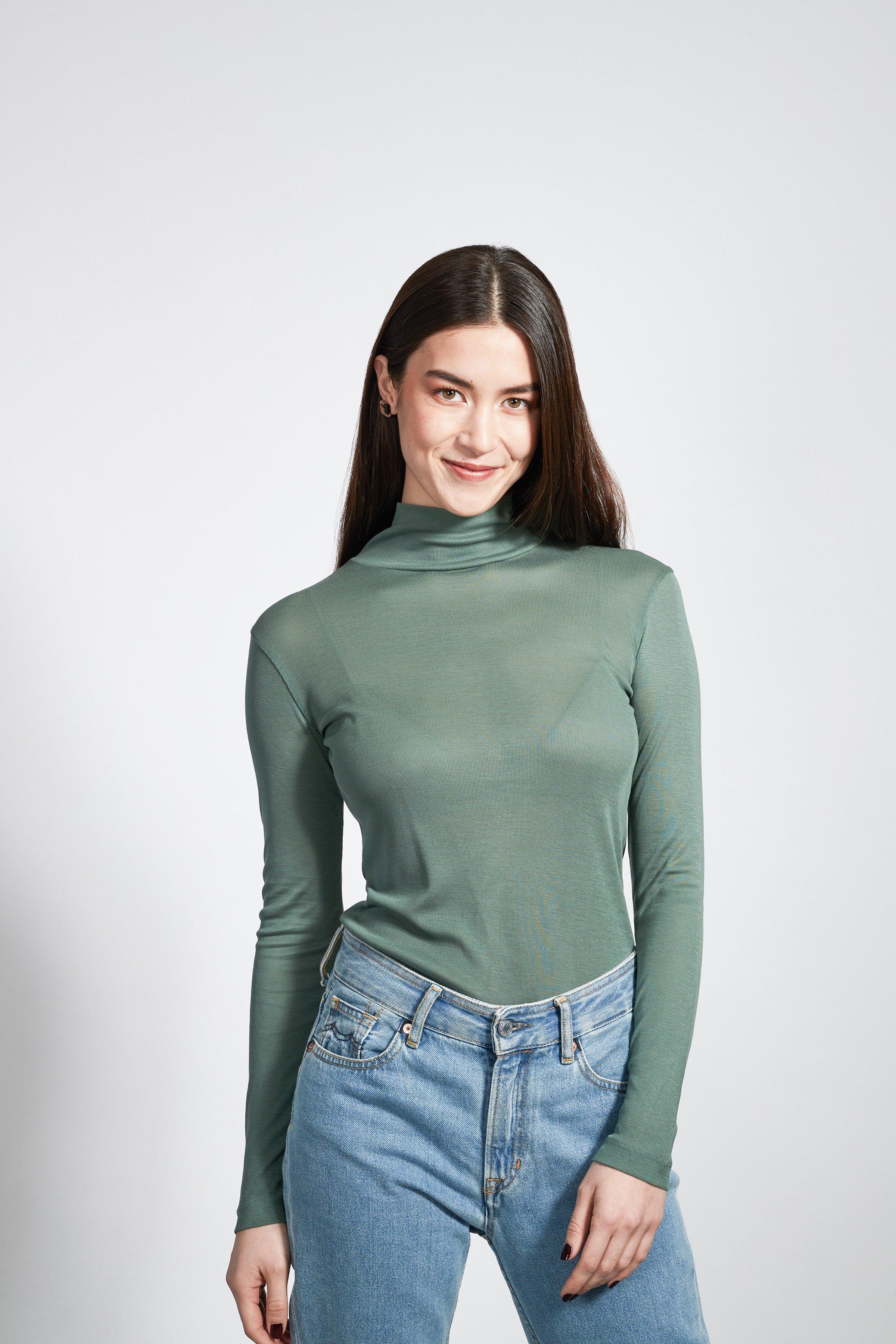 Pullover Mio Rib Grün