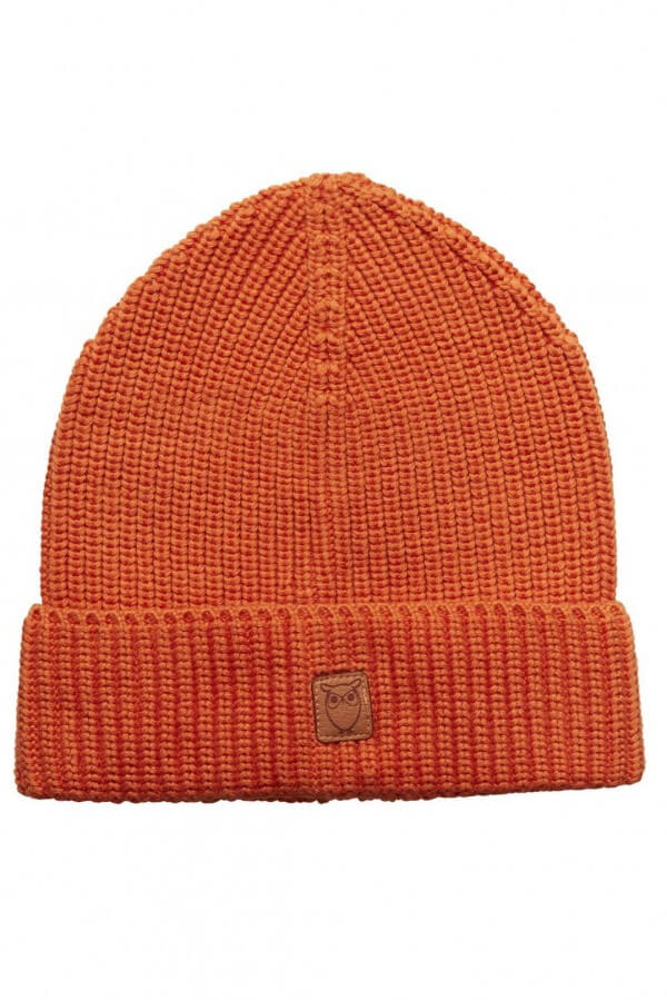 KnowledgeCotton Apparel MUETZE RIBBING ORANGE LOV12750 1