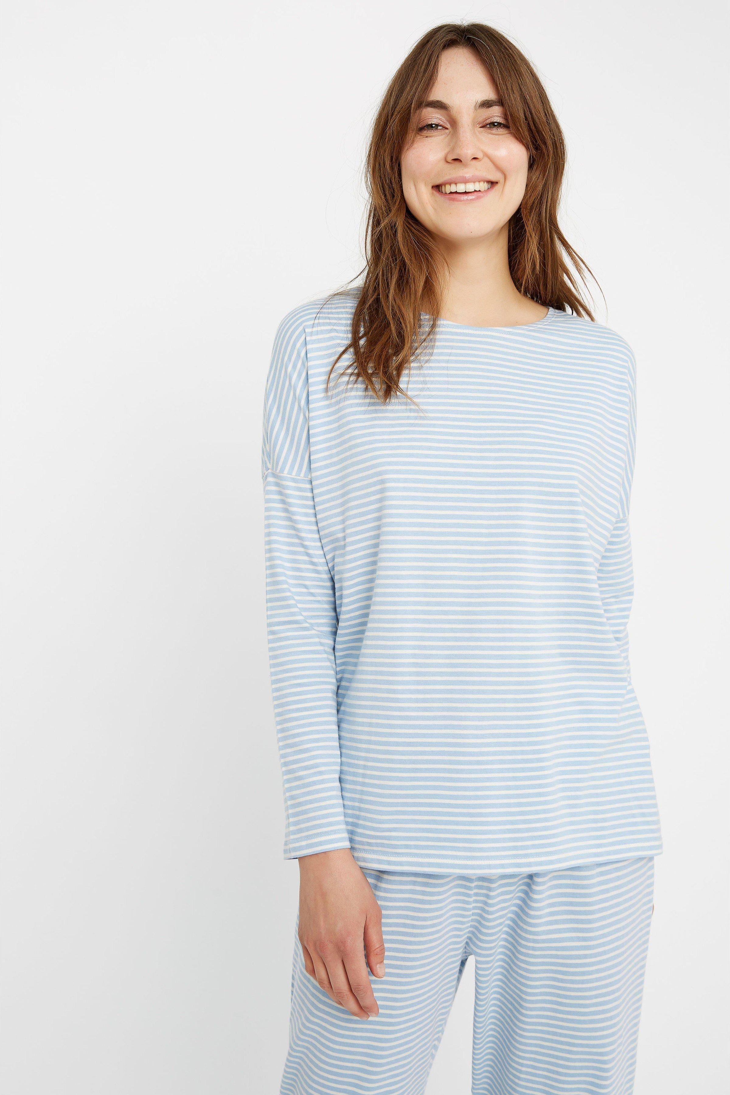 Longsleeve Stripe Blau from LOVECO