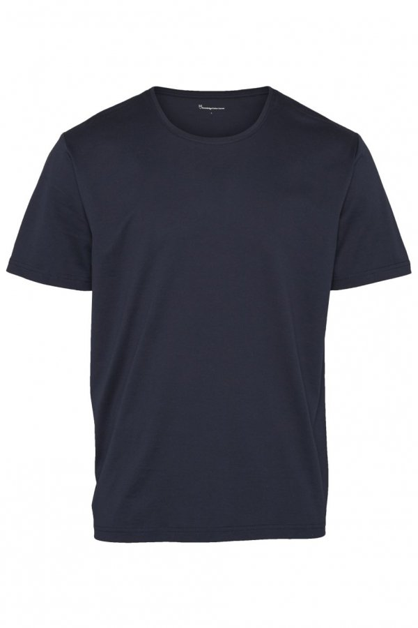 KnowledgeCotton Apparel T-SHIRT O-NECK BLAU LOV13243 1