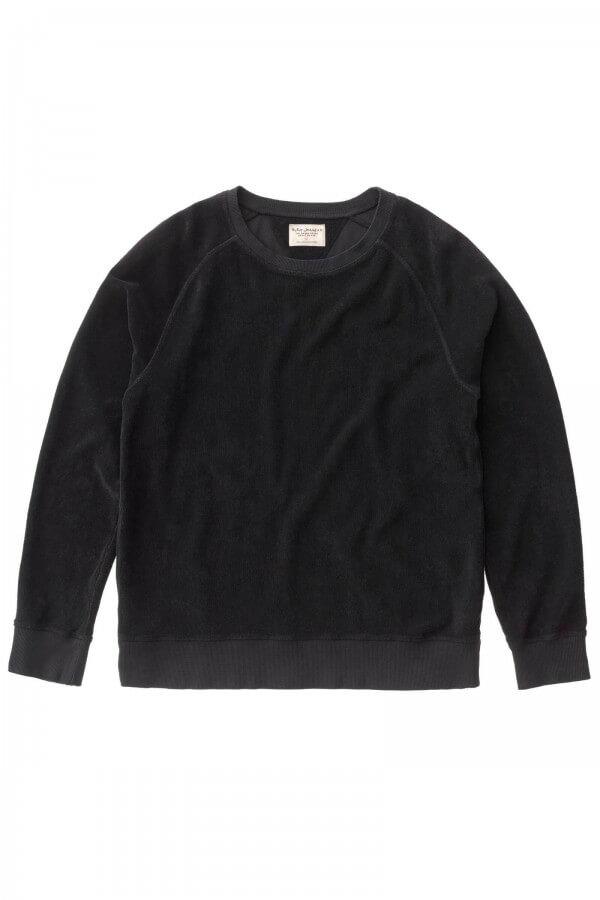 Nudie Jeans SWEATSHIRT SAMUEL TERRY BLACK LOV12604 1