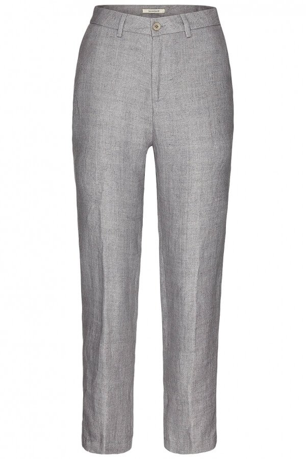 Pants Charlotte Ankle Linen Dark Silver