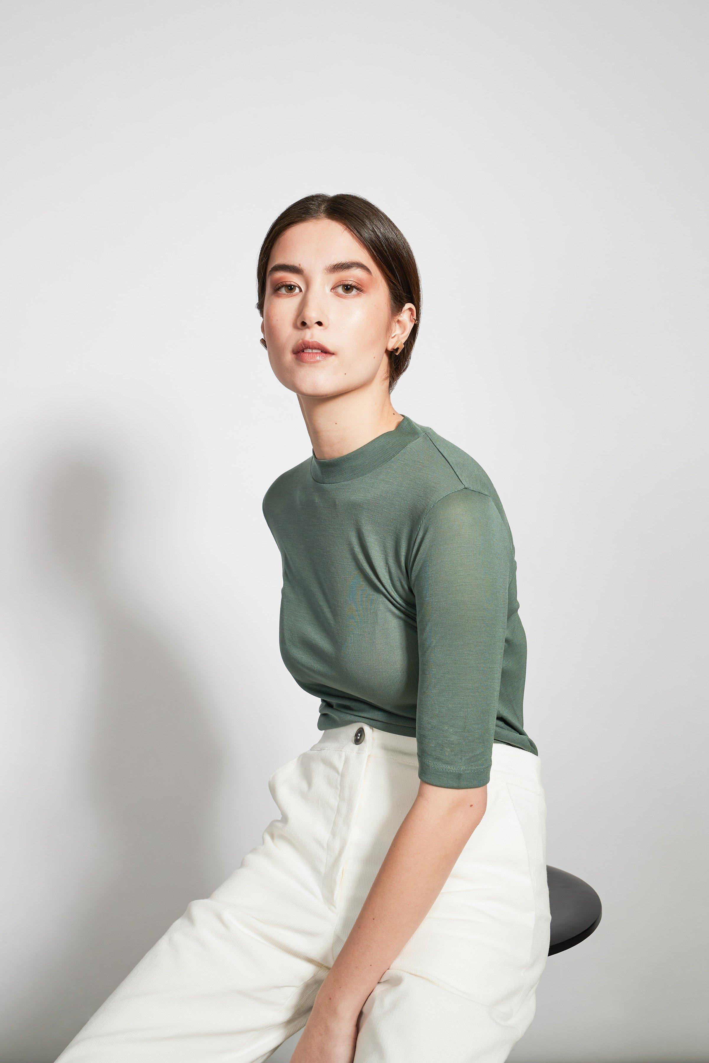 T-Shirt Nina Rib Grün