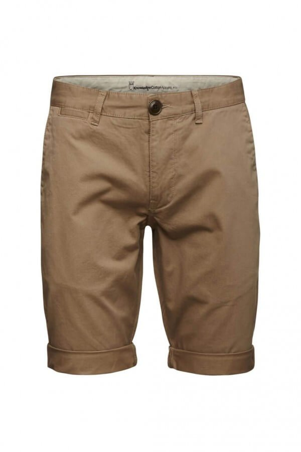 KnowledgeCotton Apparel TWISTED TWILL SHORTS TUFFET LOV12201 1