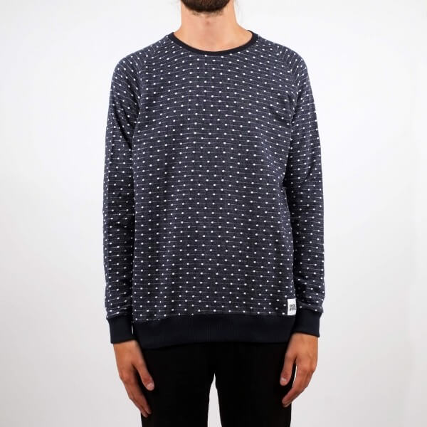 dedicated SWEATSHIRT MALMOE JACQUARD DOTS NAVY LOV11489 1