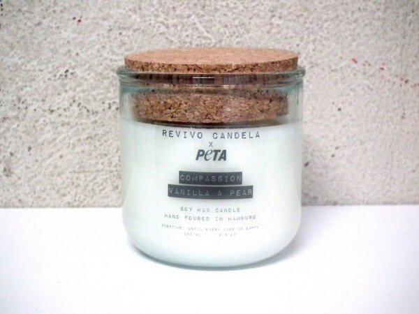 Sojawachskerze Im Glas Peta Edition Compassion Vanilla & Pear