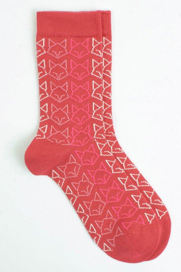 VNS Organic Socks SOCKEN CAT ROT LOV11737 1
