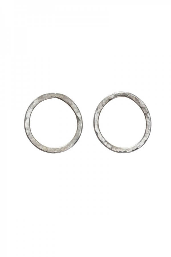 People Tree EARRINGS SIMPLE CIRCLE SILVER LOV12409 1