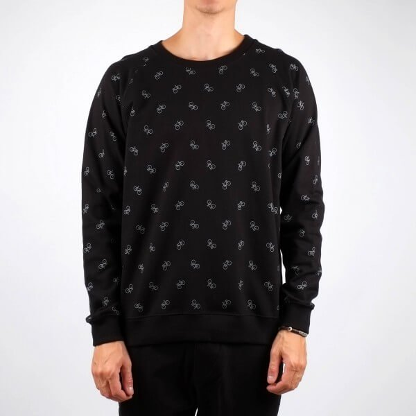 dedicated SWEATSHIRT MALMOE BIKE PATTERN BLACK LOV11487 1