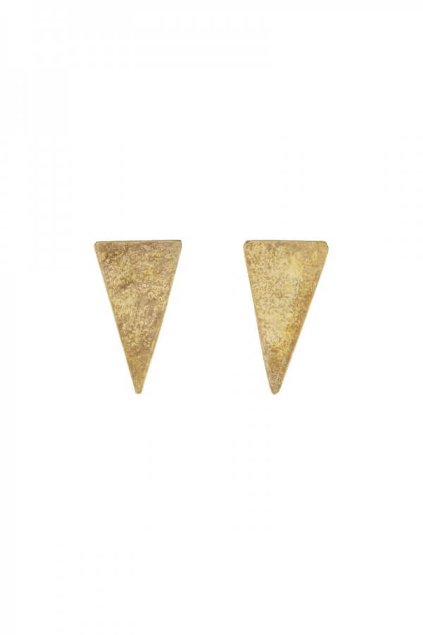 People Tree EARRINGS TRIANGLE STUD BRASS LOV12407 1
