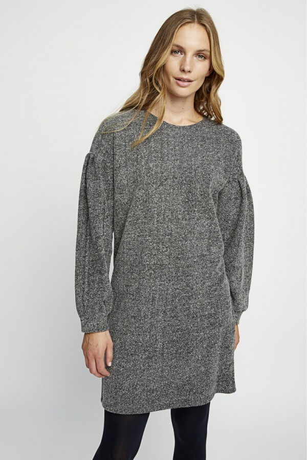 People Tree FLEECE TUNIC DRESS ANNABEL GRAY LOV12571 1