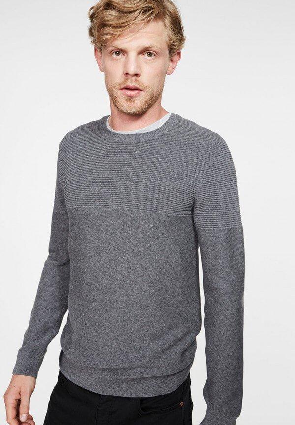 Pullover Landon Mid Grey Melange