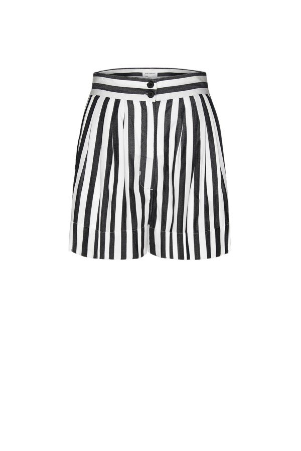 ARMEDANGELS SHORTS SUNITAA BIG STRIPES SCHWARZ LOV13725 1