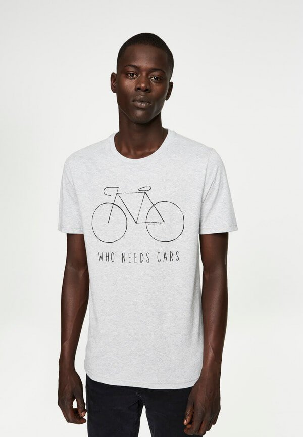 T-SHIRT JAMES CITY BIKE GREY MELANGE