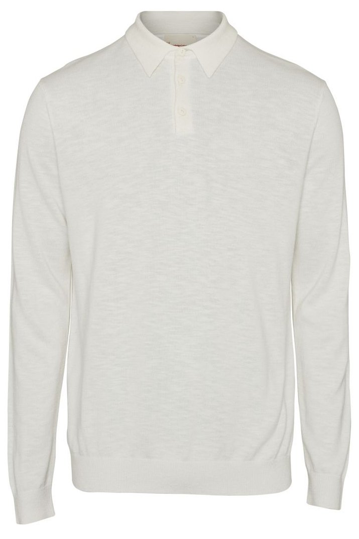 Longsleeve Polo Weiss from LOVECO