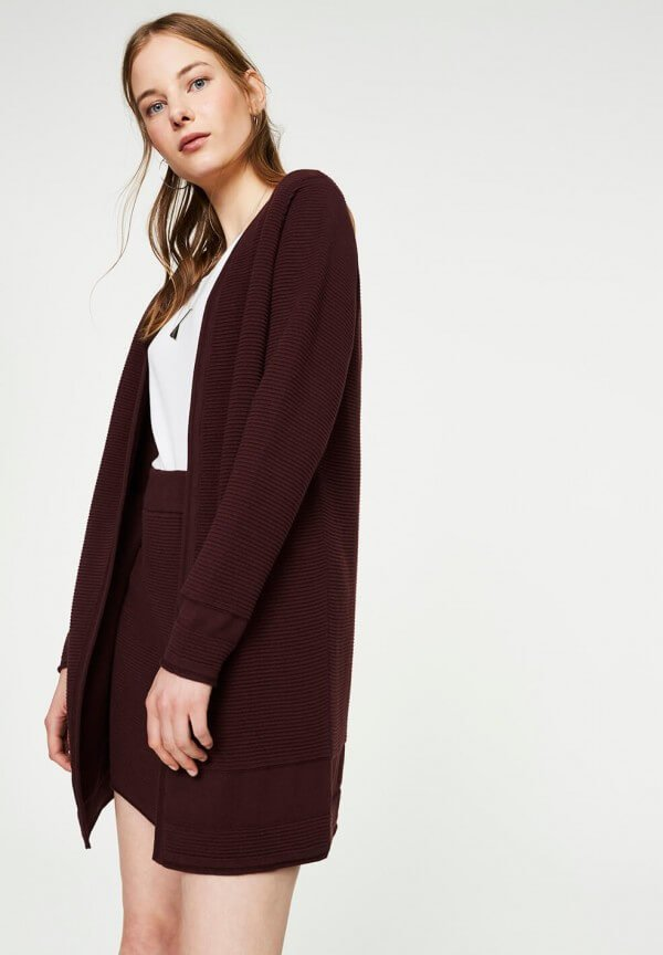 Cardigan Lusa Dark Bordeaux