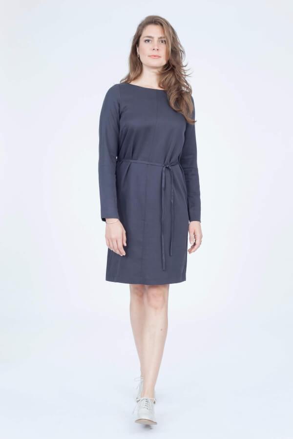 Lanius-dress-tencel-darkgrey
