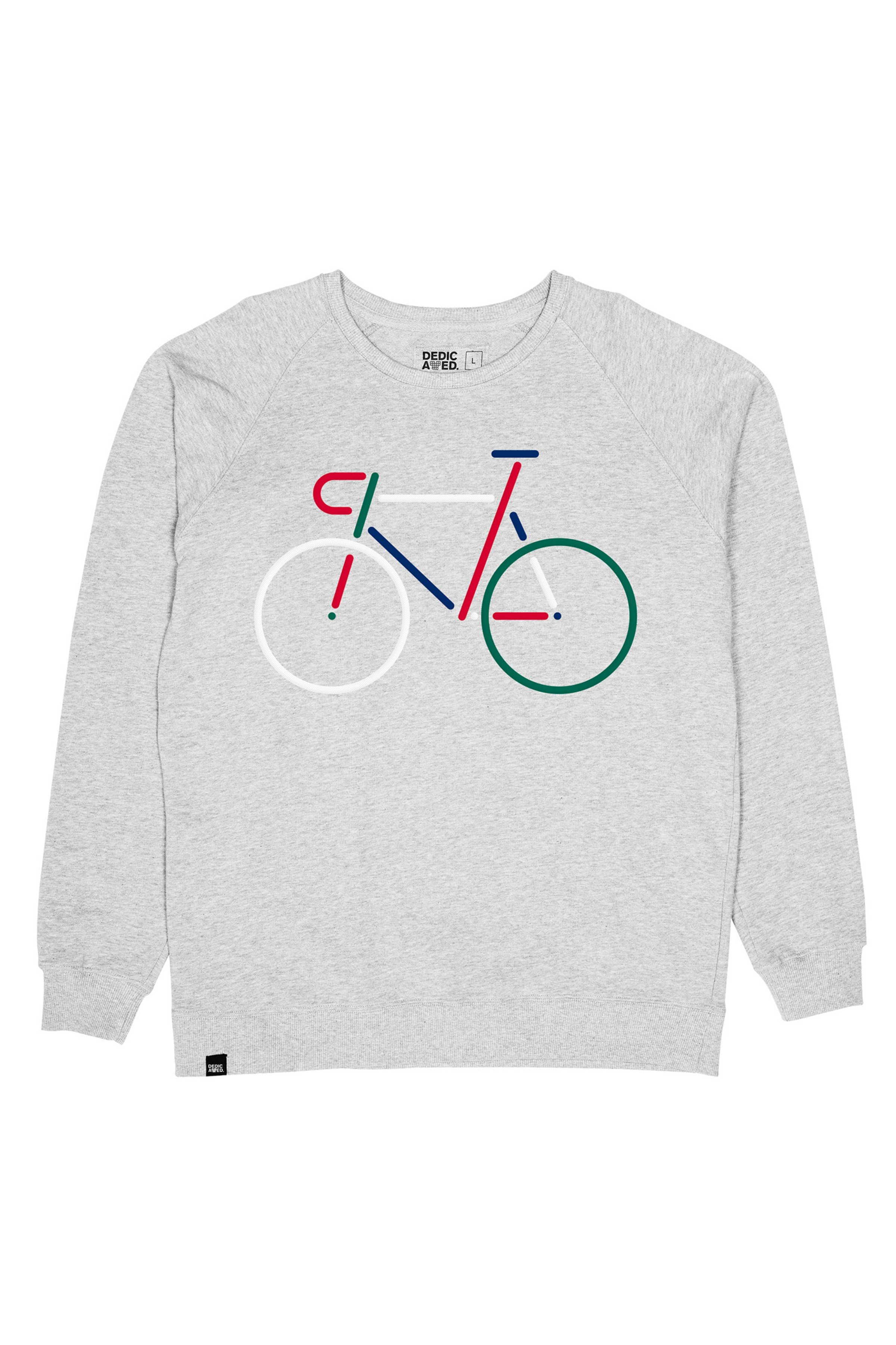 Sweatshirt Malmoe Color Bike Grau
