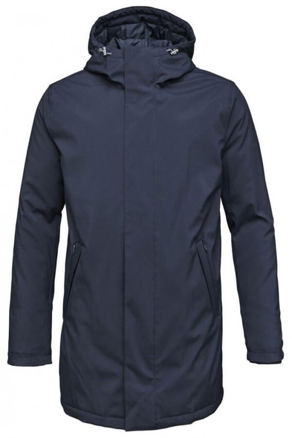 KnowledgeCotton Apparel JACKE LONG SOFT SHELL QUILTED DUNKELBLAU LOV11533 5