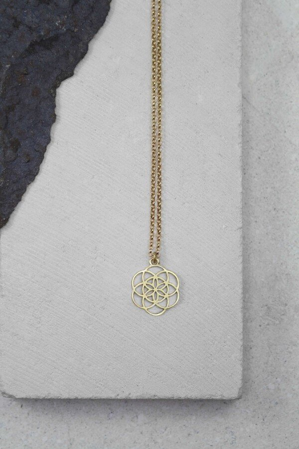 Santi Santi NECKLACE MANDALA MESSING LOV11787 1