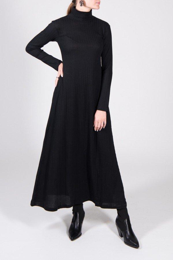 JAN 'N JUNE Kleid Rory Rib Schwarz LOV13930 1