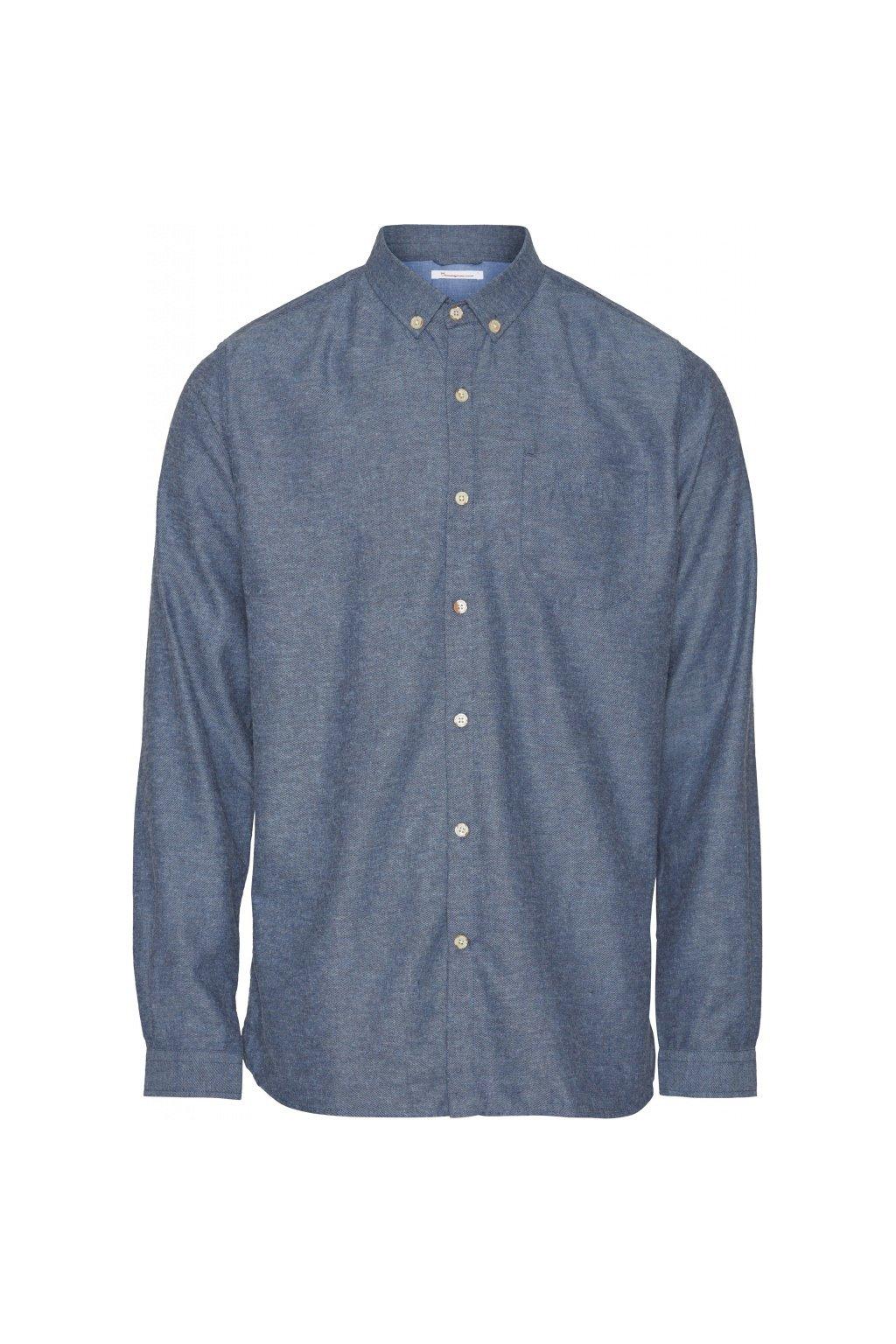 Hemd Melange Effect Flannel (mehrere Farben)