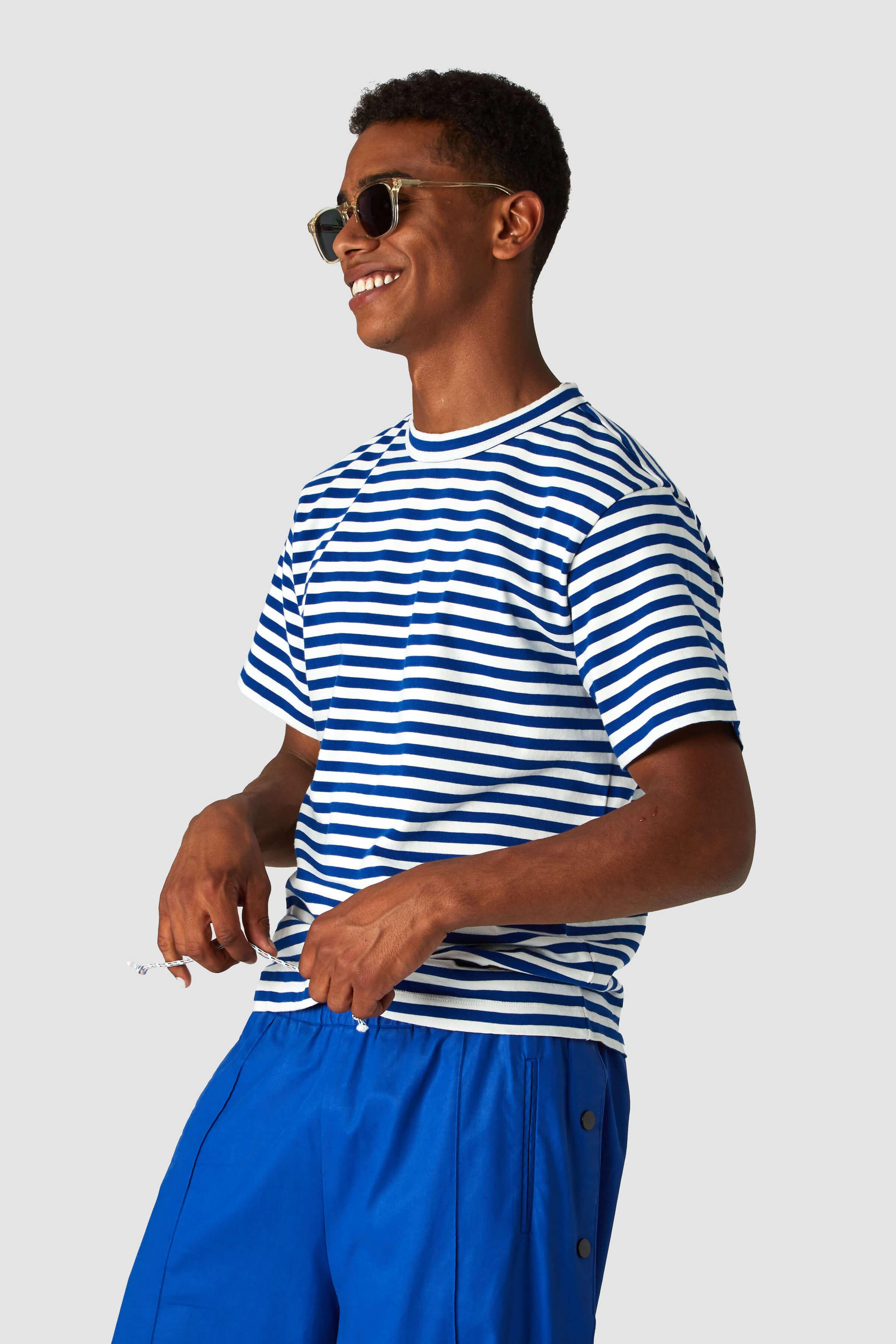 T-Shirt Darius Blau Streifen