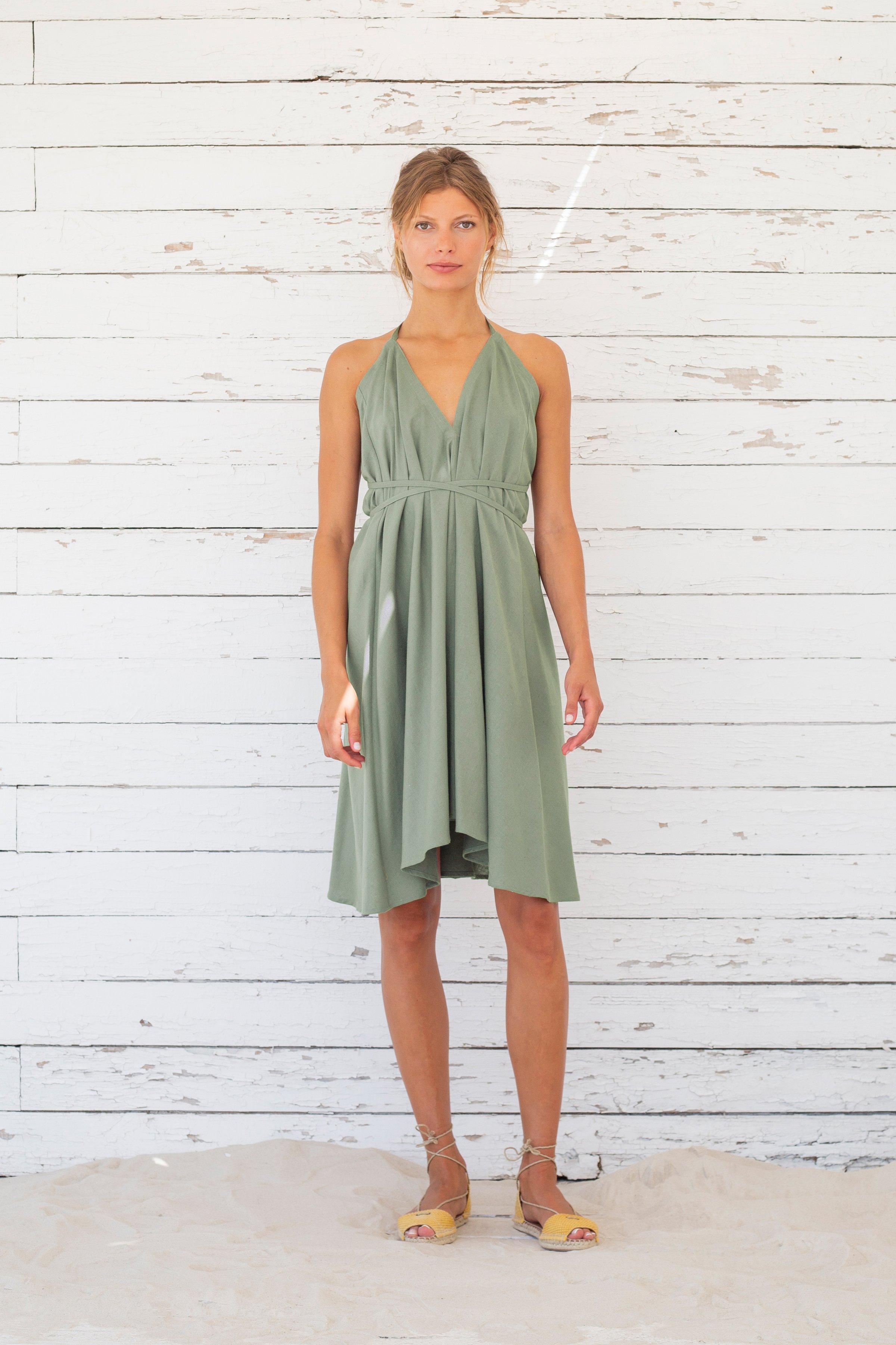 unisize kleid daphne kurz grün