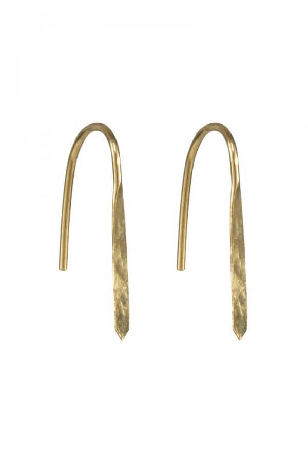 People Tree EARRINGS MINIMAL HOOKS BRASS LOV11578 1
