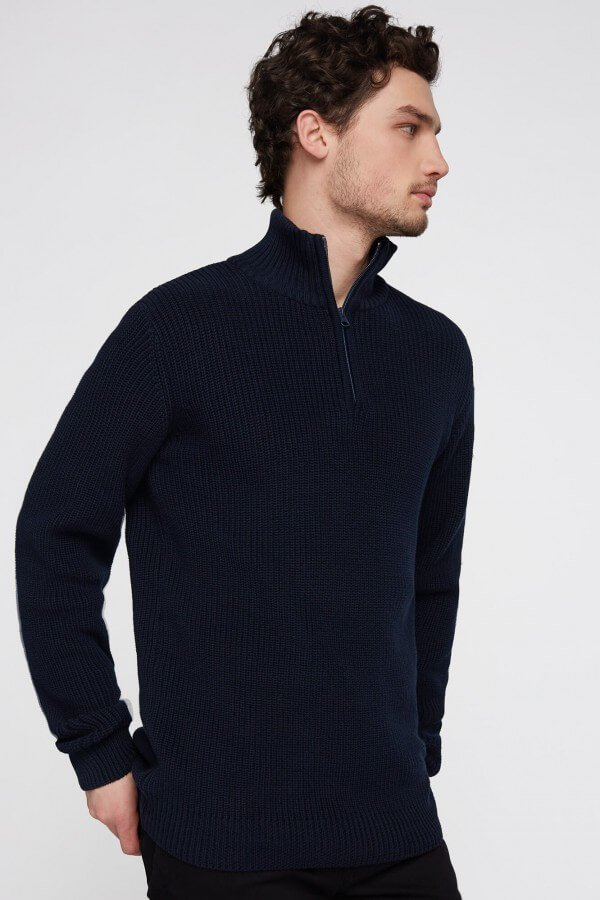 KNITTED TROYER NAVY