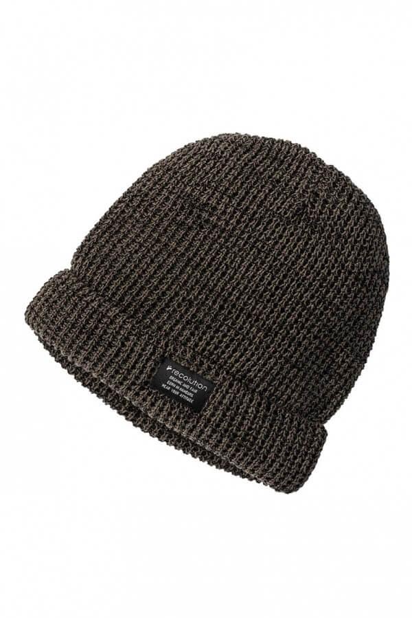 Mütze Knit Beanie Flecked Oliv Grün