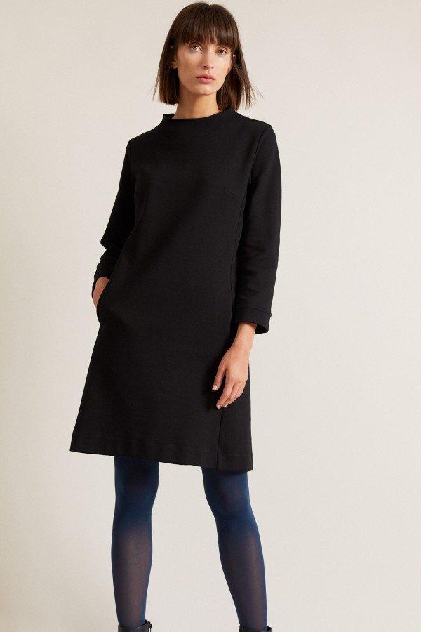 Lanius Kleid mit Stehkragen Schwarz LOV14006 1