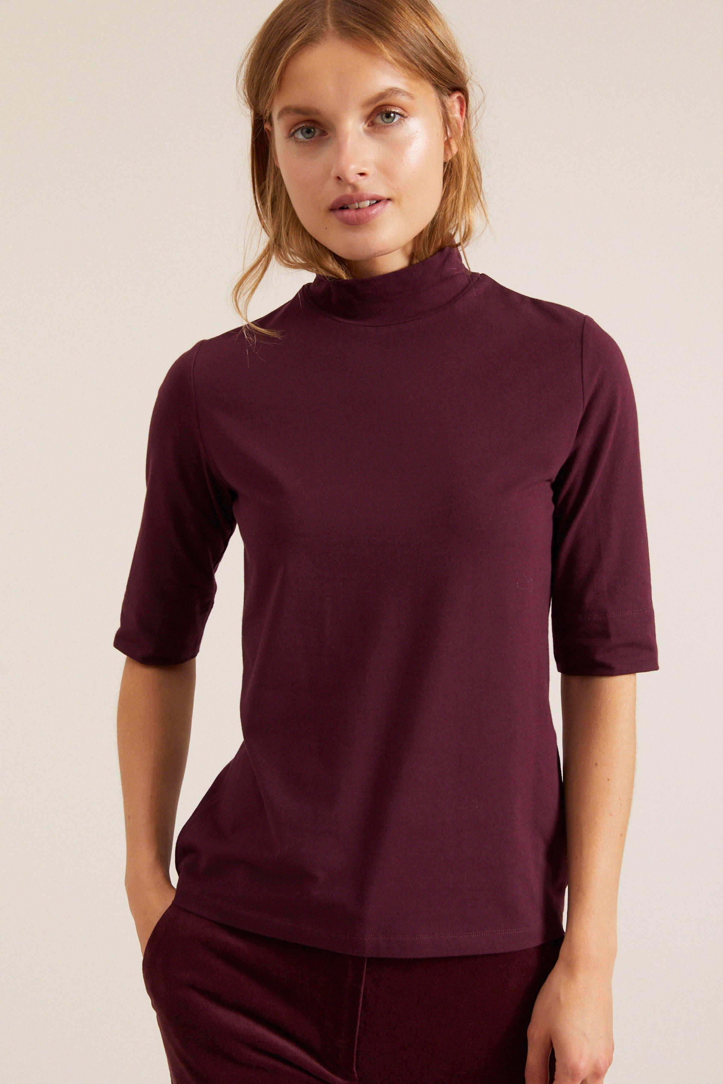 Shirt Stehkragen Lila from LOVECO
