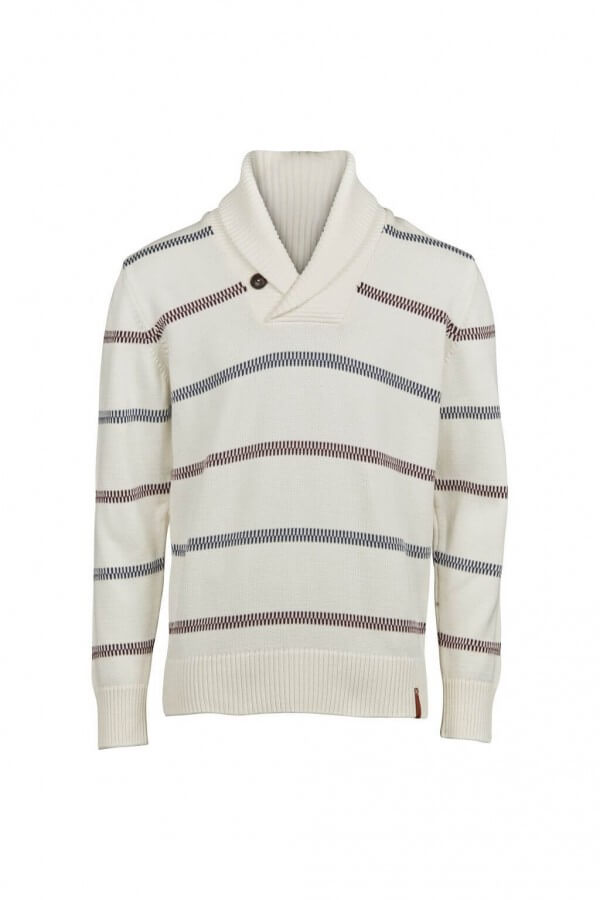 KnowledgeCotton Apparel PULLOVER PIPPI KNIT WINTER WEISS LOV12850 1