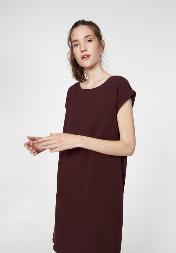 Dress Hila Dark Bordeaux