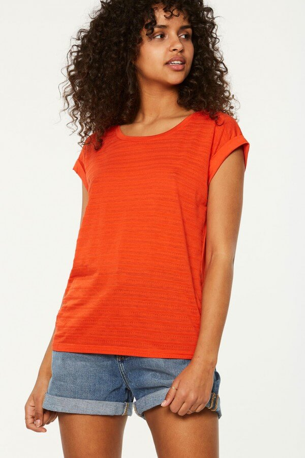 ARMEDANGELS T-SHIRT BONNI GLOSSY ORANGE LOV12361 1