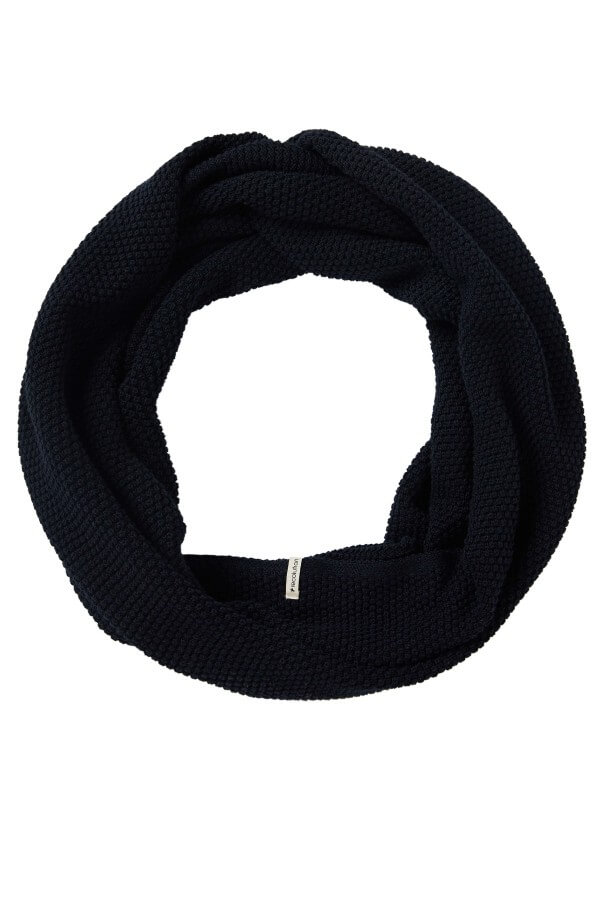 recolution LOOP SCARF KNIT POINT NAVY LOV12632 4