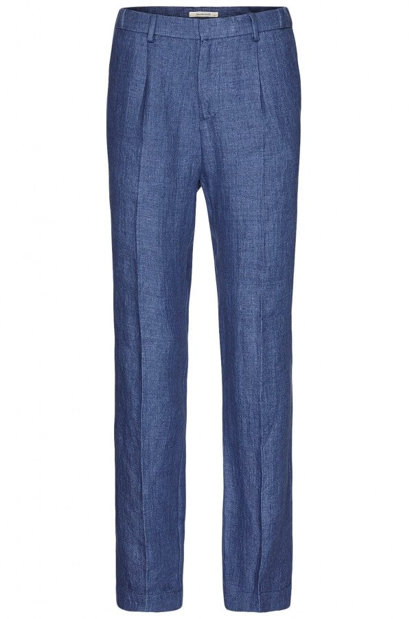 LINEN PANTS EVAN BLUE