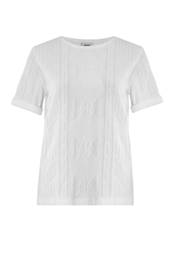 JAN 'N JUNE T-SHIRT BOY JACQUARD WHITE LOV12553 1