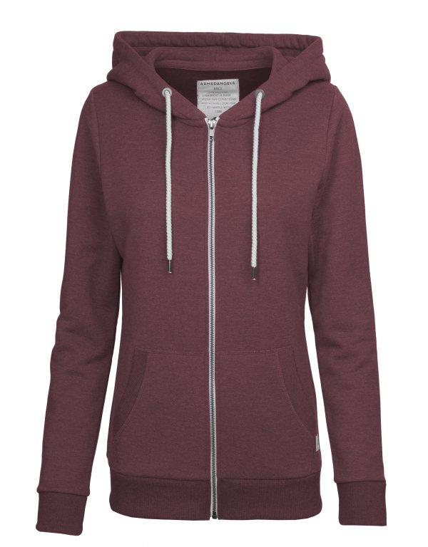 armedangels-hoodie-franzi-burgundymelange