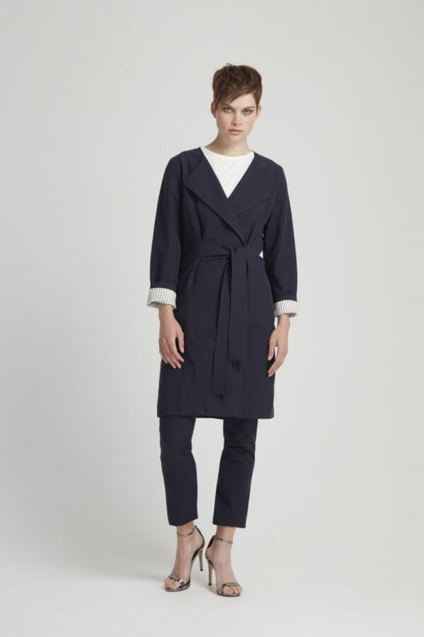 Wrap Coat Milena Navy