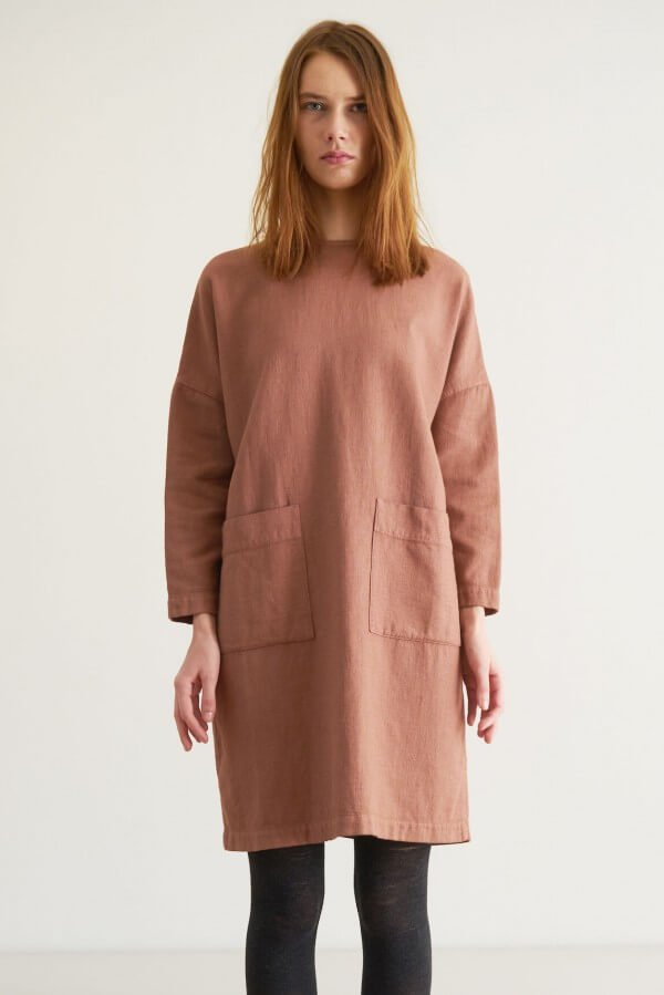 CUS DRESS TERENT TERRACOTTA LOV12543 1