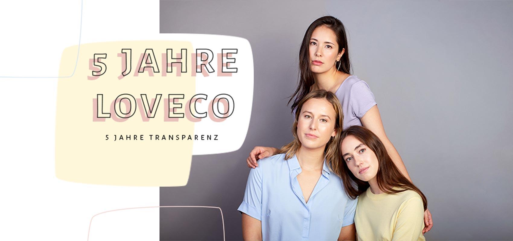 Drei Frauen tragen ökologische Mode