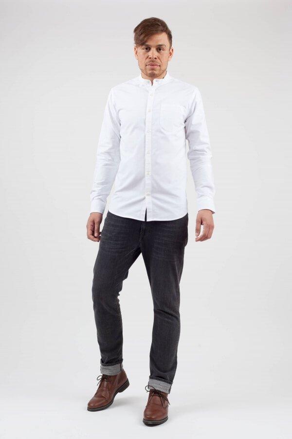 KnowledgeCottonApparel-Stand Collar